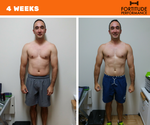 FP helped James drop fat and build muscle